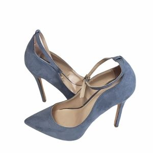 Shoedazzle Brittany Blue Faux Suede 4inch Heels